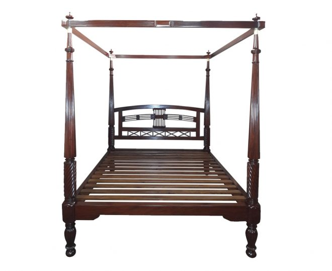 british colonial mahogany four poster bed