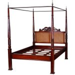 british colonial west indies style queen size canopy bed