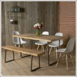 brooklyn modern rustic reclaimed wood dining table dining