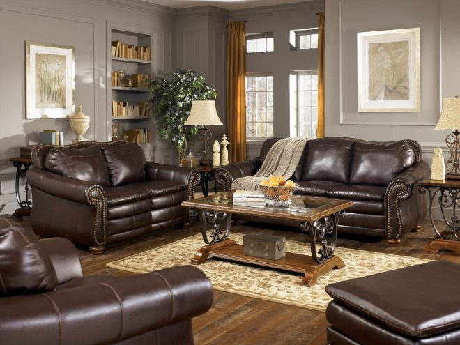brown leather sofa decor couch living rooms with couches