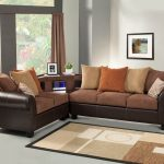 brown sectional sofa set with aux cd and amfm stereo