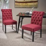 broxton tufted rolltop dining chairs set of 2 christopher knight home