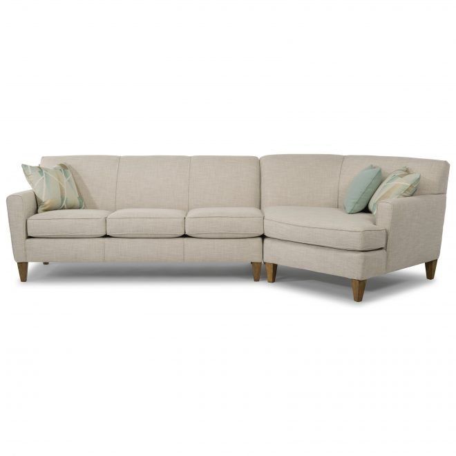 bruno 2 piece sectional with raf angled chaise