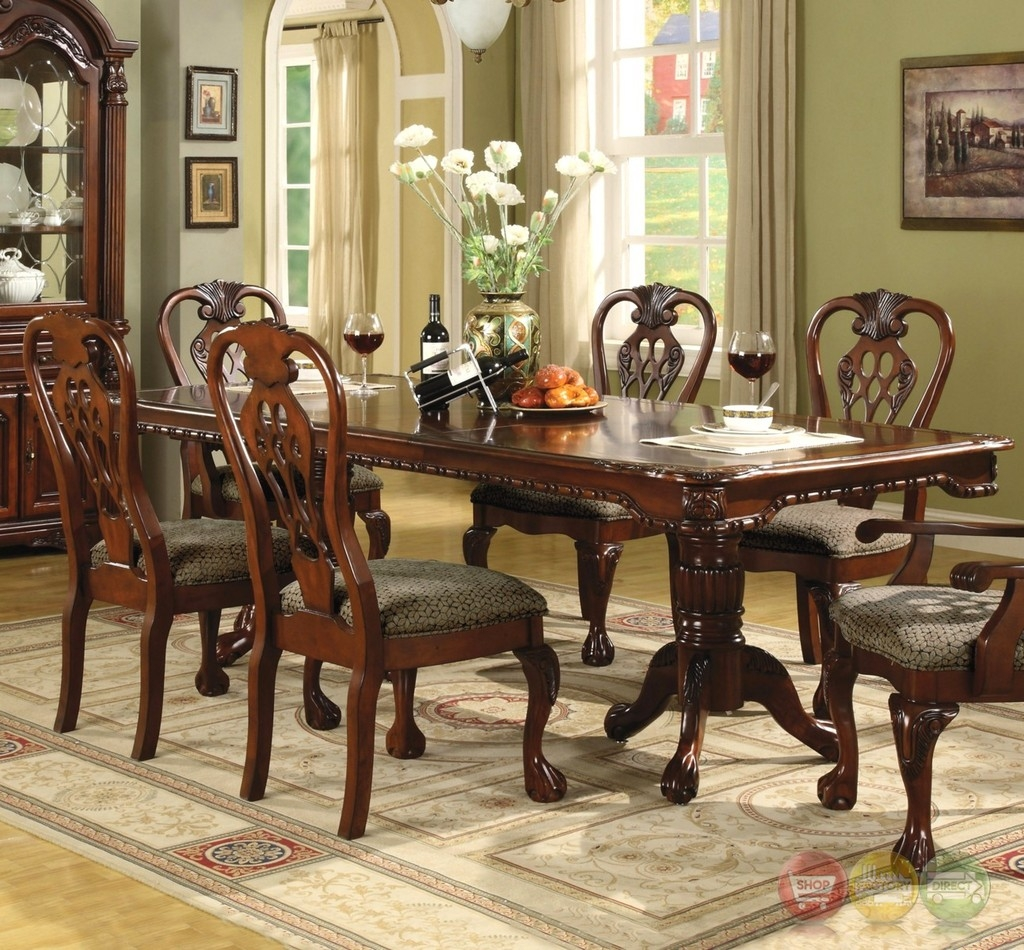 brussels traditional formal dining room set 9 piece w china cabinet