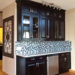buffet built of black cabinets in older yorkville illinois