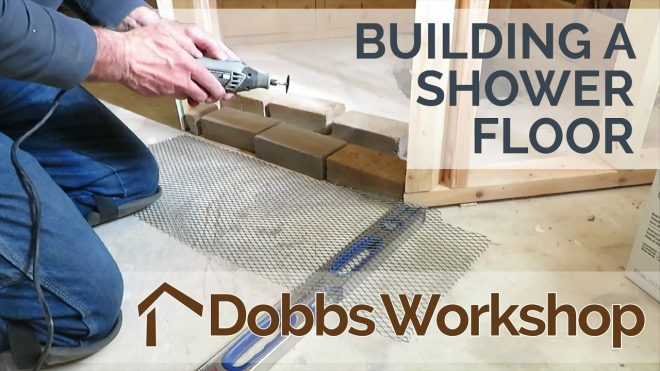 building a shower floor from scratch part 1 of 2 youtube