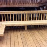 built in deck seating as railing google search deck