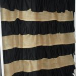 burlap and cotton ruffle shower curtain 13000 via etsy