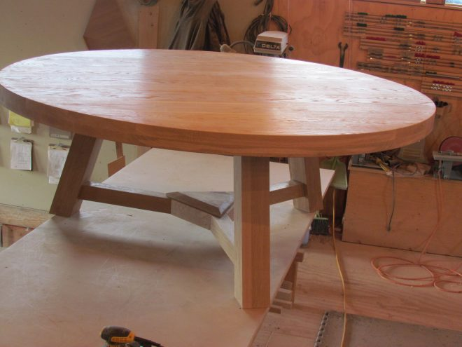 buy a custom 80 white oak round dining table made to order