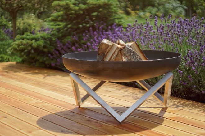 buy a hand crafted modern outdoor patio rust stainless steel fire