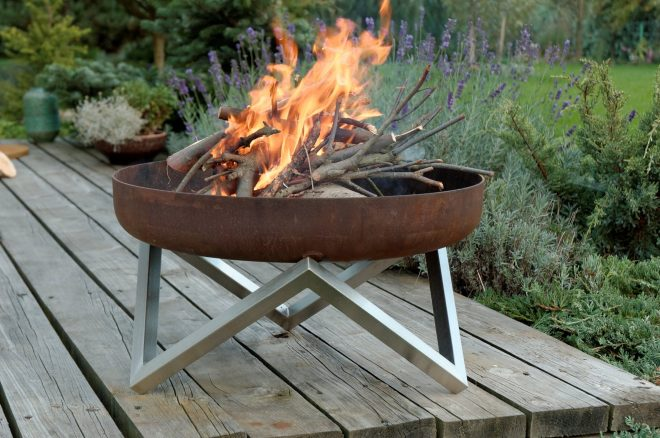 buy a hand made rust stainless steel modern outdoor patio fire pit
