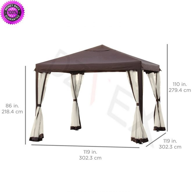 buy dzvex 10 x 10 patio garden canopy gazebo wfully