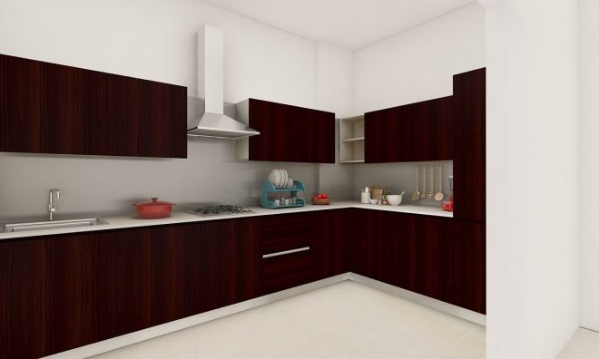 buy modern sleek l shaped kitchen online in india livspace