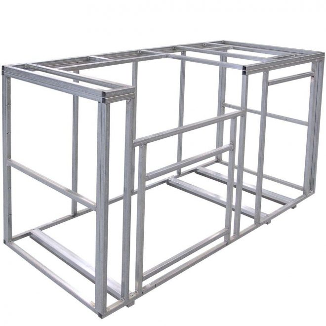 cal flame 6 ft outdoor kitchen island frame kit