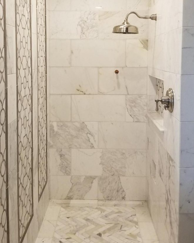 calacatta gold master bathroom remodel featuring the