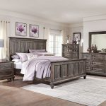 calistoga 7 piece king bedroom package weathered charcoal