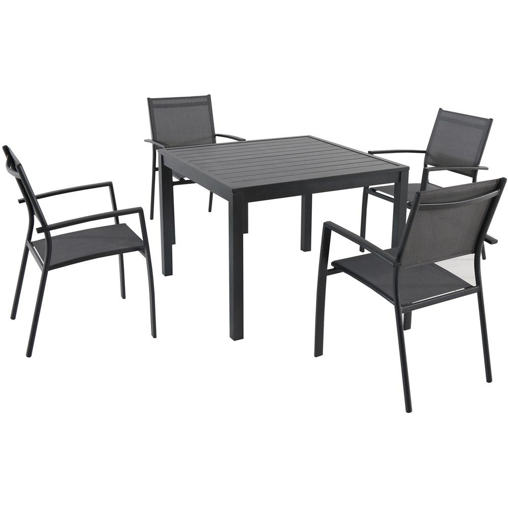 cambridge nova 5 piece aluminum square outdoor dining set