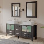 cambridge plumbing aspen 64 double bathroom vanity set with mirror