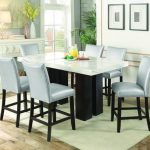 camilla seven piece counter height dining set