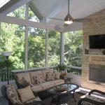 can you really have a tv on your screened porch what about fabric