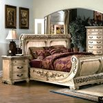 cannes bedroom set gondola sleigh bed whitewash bedroom