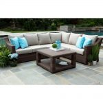 canopy alder 5 piece resin wicker outdoor sectional with sunbrella cast ash cushions