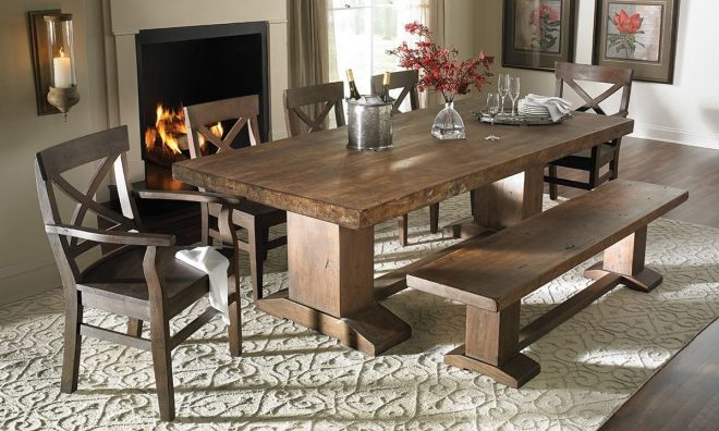 cape town 94 inch rustic dining table home in 2019