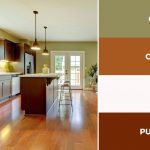 captivating kitchen color schemes warm palette brown and