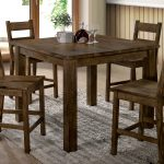 carbon loft bourdain rustic counter height table brown in