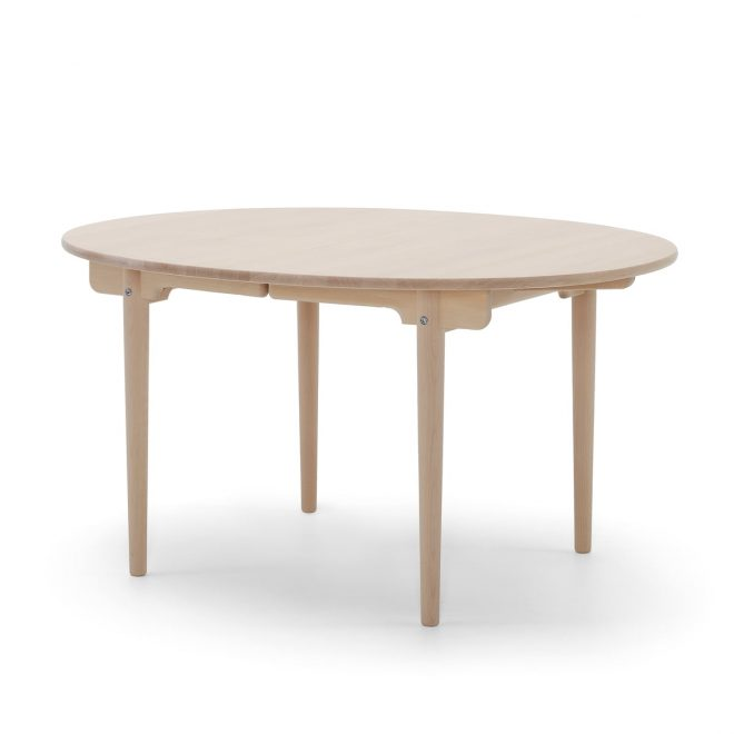 carl hansen ch337 extendable dining table 140 x 115 cm oiled oak with pull out for 2 tops