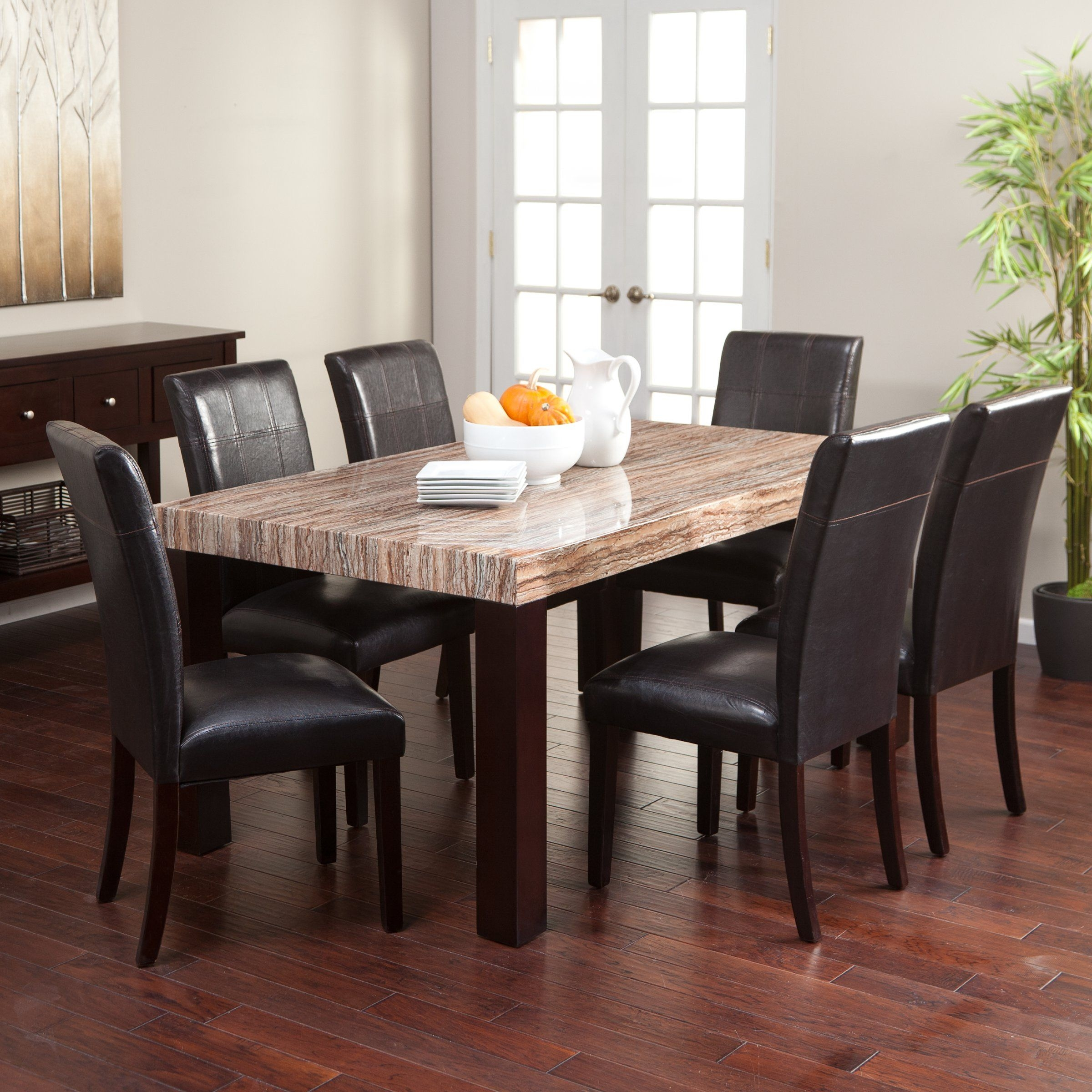 carmine 7 piece dining table set dining table sets at hayneedle