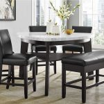carrara marble counter height table 4 counter chairs