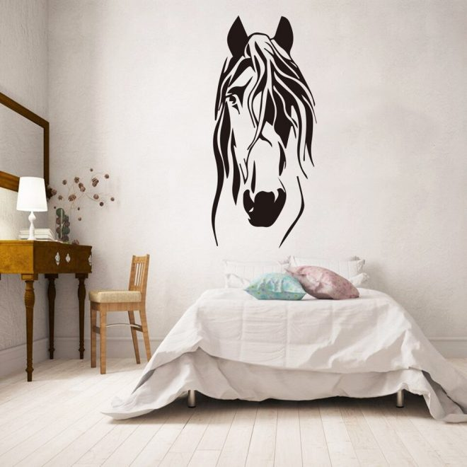 cartoon funny horse vinyl wall stickers decor for living room bedroom kids room decoration removable wall decals mural wallpaper