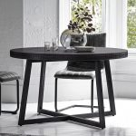 carved round dining table black