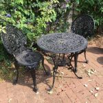 cast iron garden furniture table and two chairs in hitchin hertfordshire gumtree