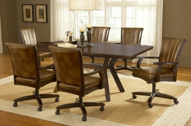 casters for dining room chairs dining table and 4 chairs