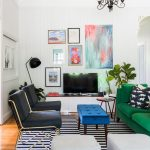 cats and bright colors in an eclectic modern country home