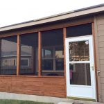 cedar screened porch with glass storm door home in 2018