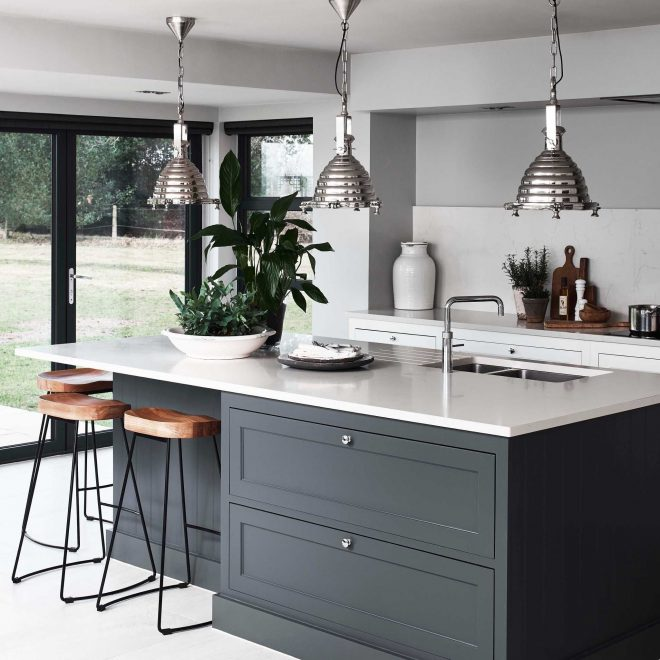 centre island breakfast bar modern kitchens in 2019