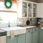 chalk painted kitchen cabinets 2 years later kitchen
