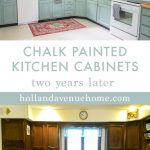 chalk painted kitchen cabinets two years later diy kitchen
