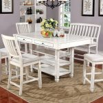 charisma furniture kaliyah antique white counter height table