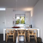 charming dining room apartment ideas with modern futuristic