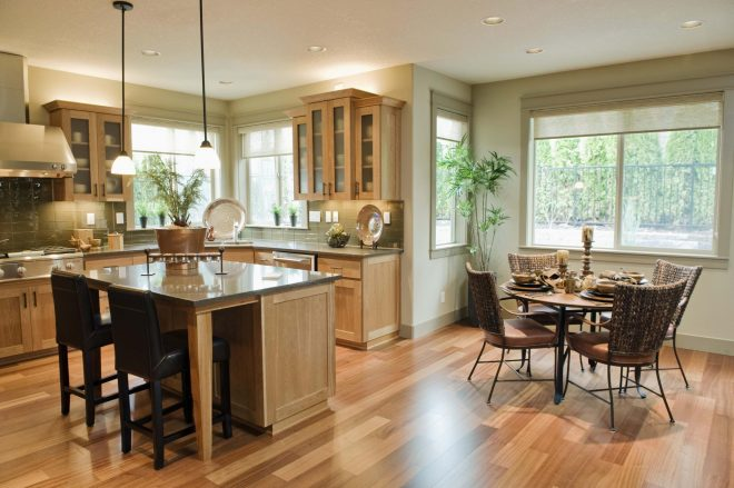 charming kitchen and dining room home pictures combining interior