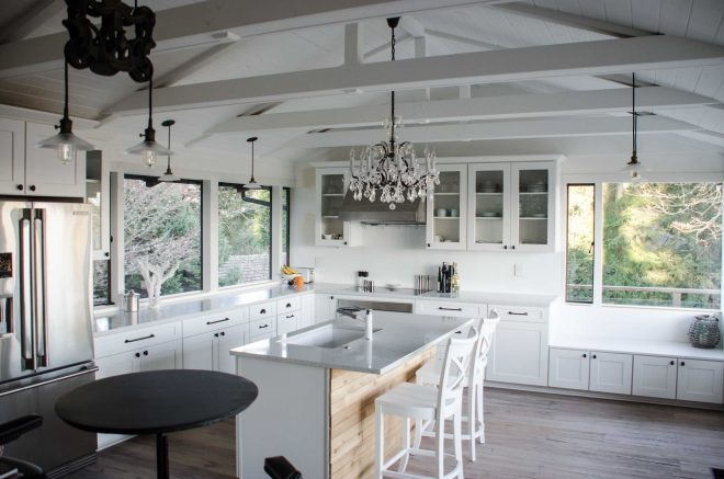 charming kitchen lighting ideas for vaulted ceilings