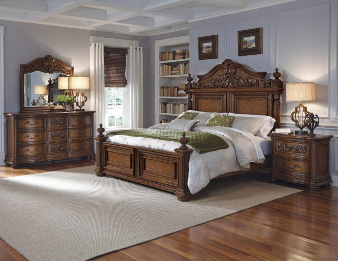 cheswick queen panel bedroom set pulaski home gallery stores