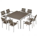 china hotel patio dining room 8 chairs dining table set modern