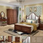 china solid wood luxury bedroom furniture sets king bed