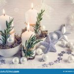 christmas composition in the scandinavian style candles