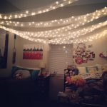 christmas lights in a dorm room for decoration my roommate